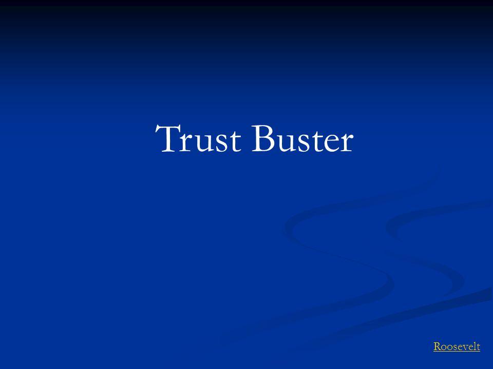 Trust Buster Roosevelt
