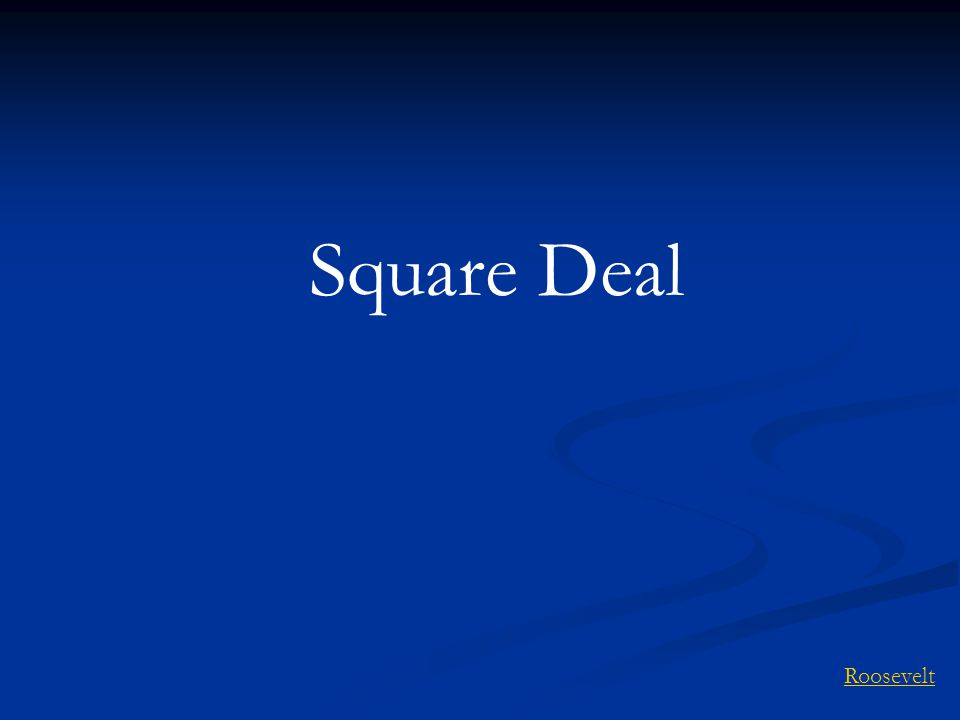 Square Deal Roosevelt
