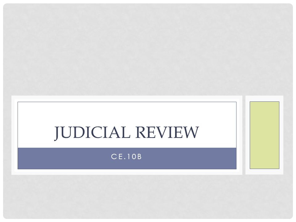 QUESTION What is judicial review?