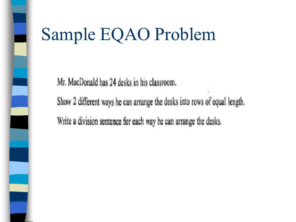 Sample EQAO Problem