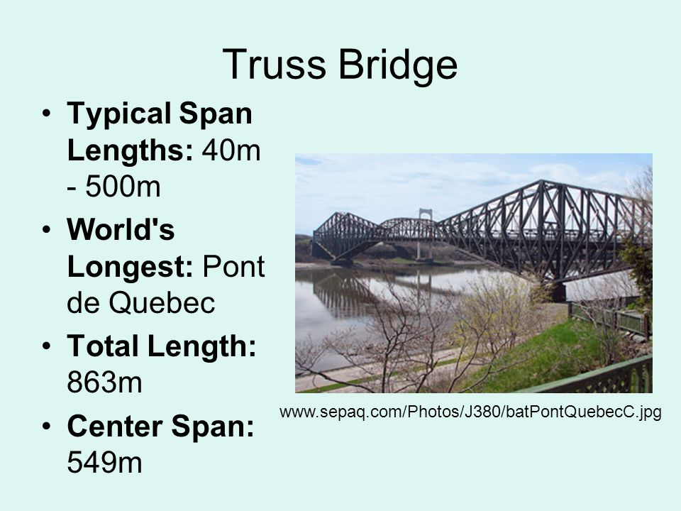 Arch Bridge An arch bridge is a semicircular structure with abutments on each end.