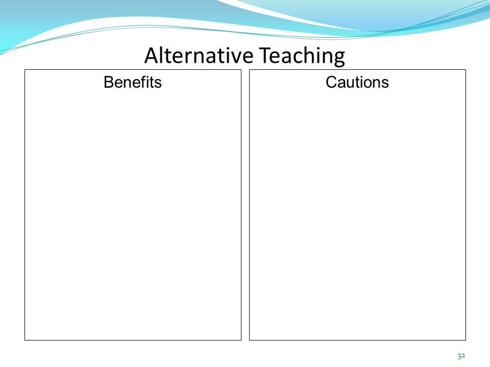 Alternative Teaching Benefits Cautions 32