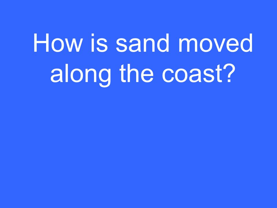 How is sand moved along the coast