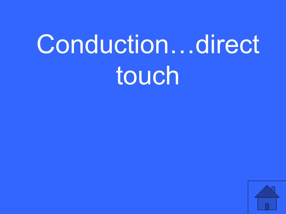 Conduction…direct touch