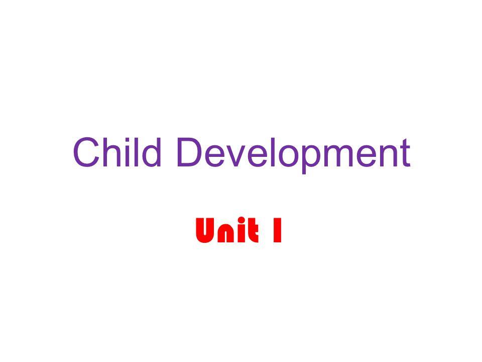 Child Development Unit 1
