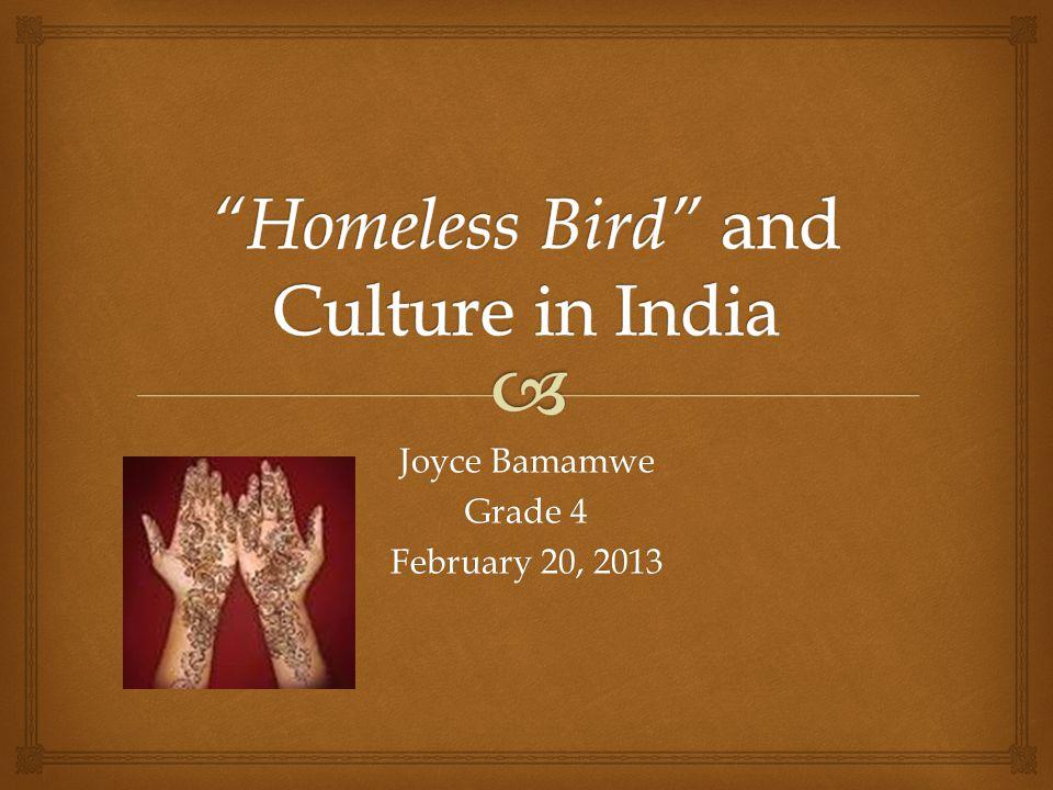 Joyce Bamamwe Grade 4 February 20, 2013