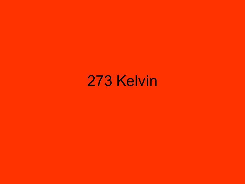 273 Kelvin