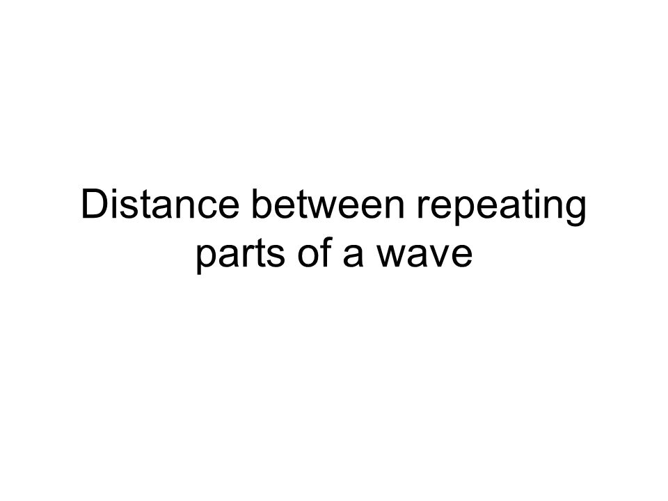 Distance between repeating parts of a wave
