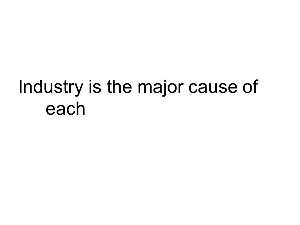 Industry is the major cause of each