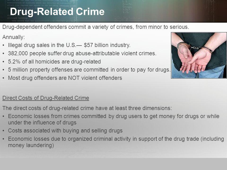 © 2013 by Pearson Higher Education, Inc Upper Saddle River, New Jersey 07458 All Rights Reserved Drug-Related Crime Drug-dependent offenders commit a variety of crimes, from minor to serious.