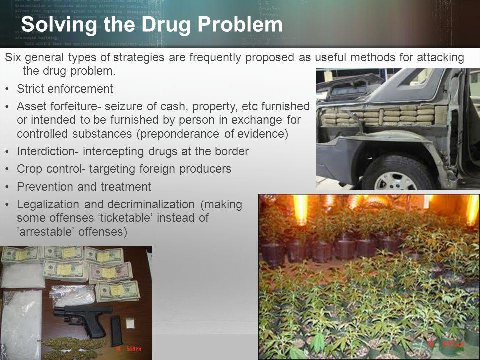 © 2013 by Pearson Higher Education, Inc Upper Saddle River, New Jersey 07458 All Rights Reserved Solving the Drug Problem Six general types of strategies are frequently proposed as useful methods for attacking the drug problem.