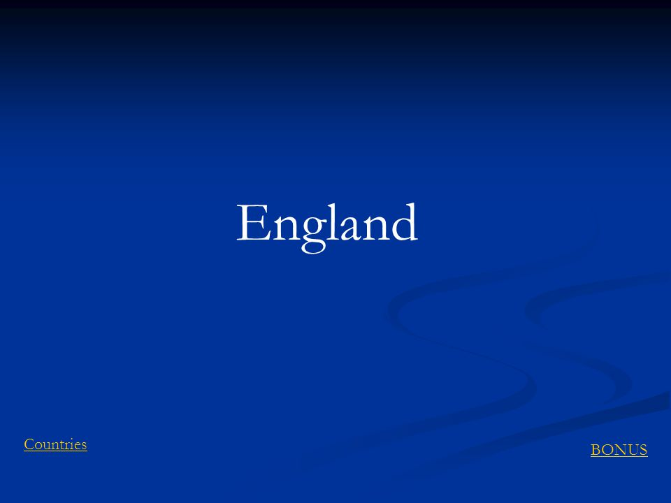 England BONUS Countries