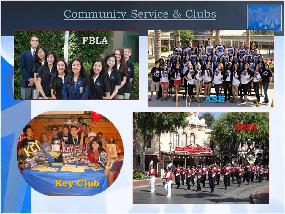 Community Service & Clubs FBLA HMA ASB Key Club