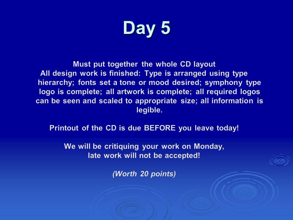 Traditional CD Design