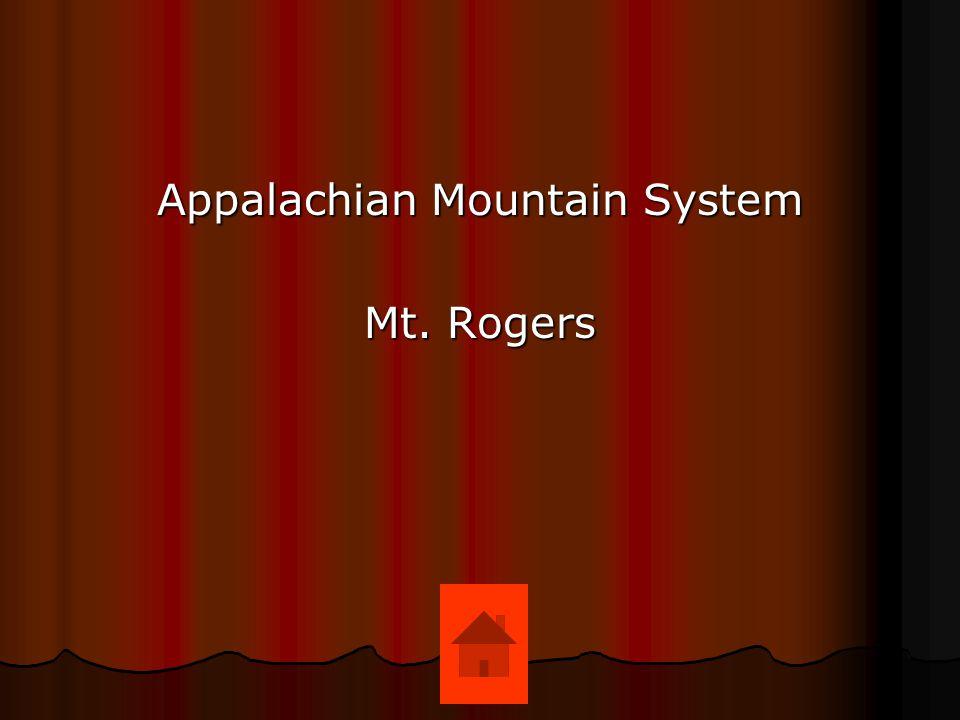 Appalachian Mountain System Mt. Rogers