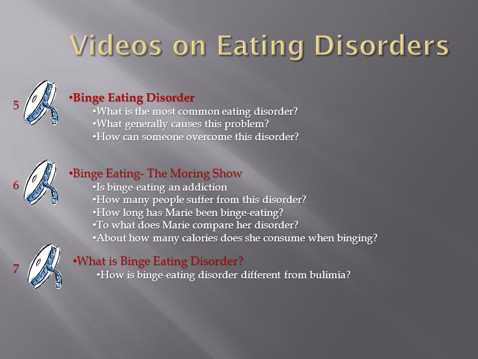 Binge Eating Disorder Binge Eating Disorder What is the most common eating disorder.