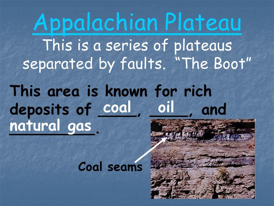 1.Kinds of rocks: 2.Ages of rocks: 3.Fossils: Sediment 350-570 mya Sea critters