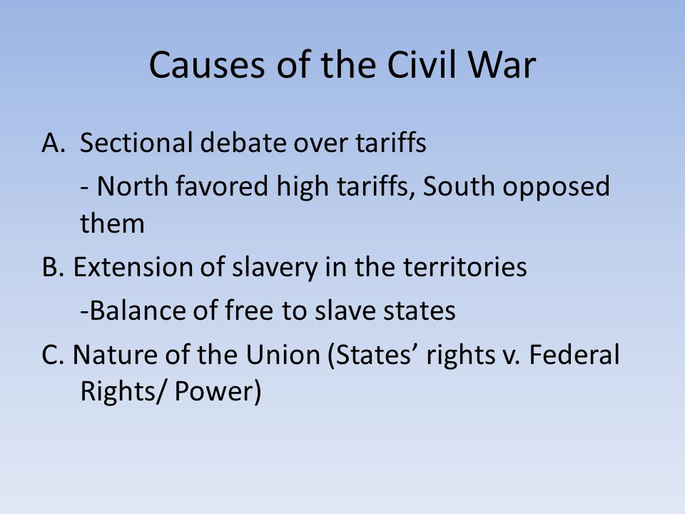 Political Effects of the War Lincoln's view that the US was one indivisible nation had prevailed Lincoln believed that since secession was illegal, Reconstruction was just a matter of installing governments loyal to the Union Lincoln didn't want to punish the South.