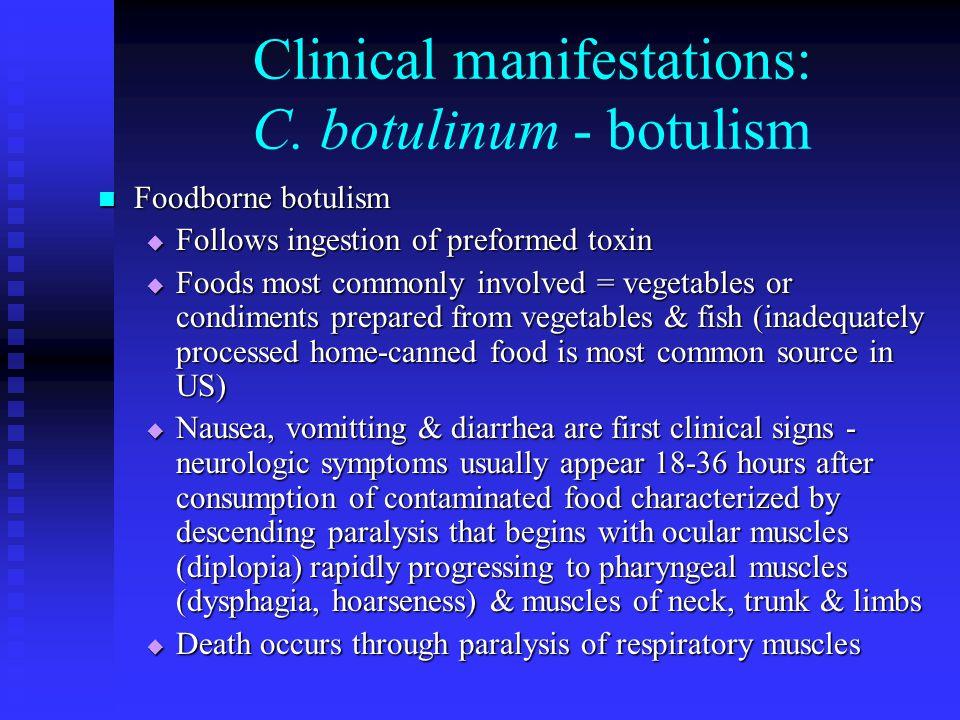 Clinical manifestations: C.