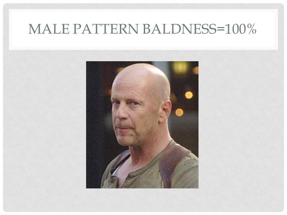 MALE PATTERN BALDNESS=100%