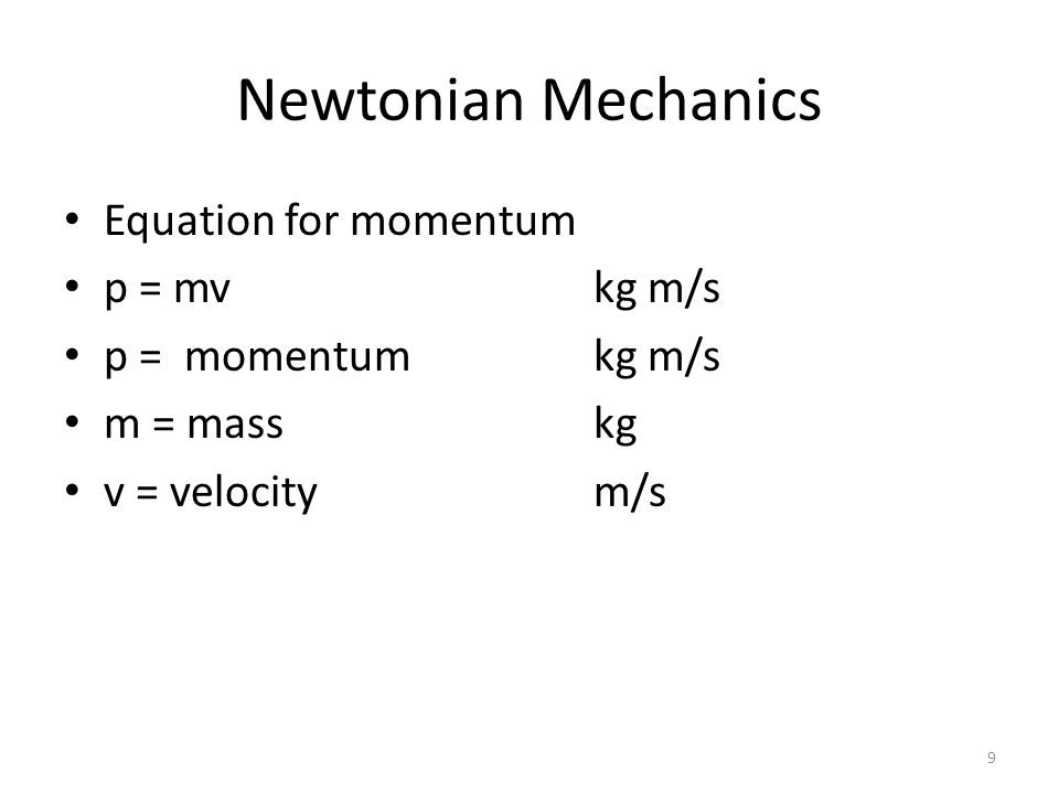 Newtonian Mechanics Equation for period and frequency T = 1/fs T = periods f = frequencycycles = Hertz = cycles/s 20