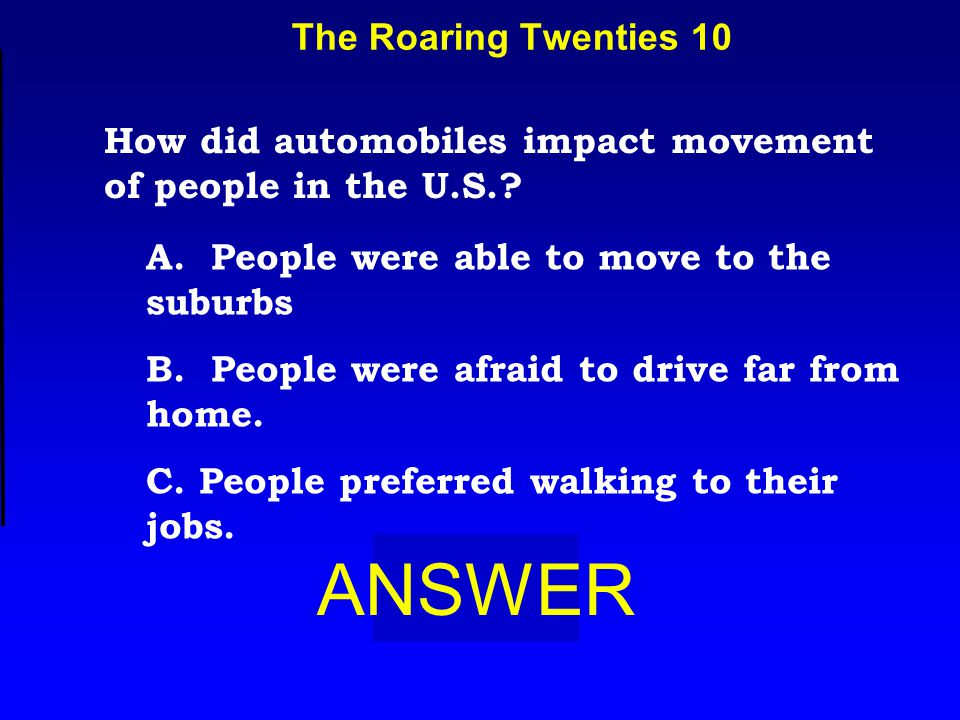 Technology 10 ANSWER Which invention caused an information revolution?' A.