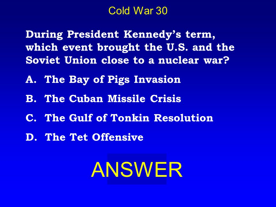 Cold War 20 BOARD A. Collapse of Communism in Europe