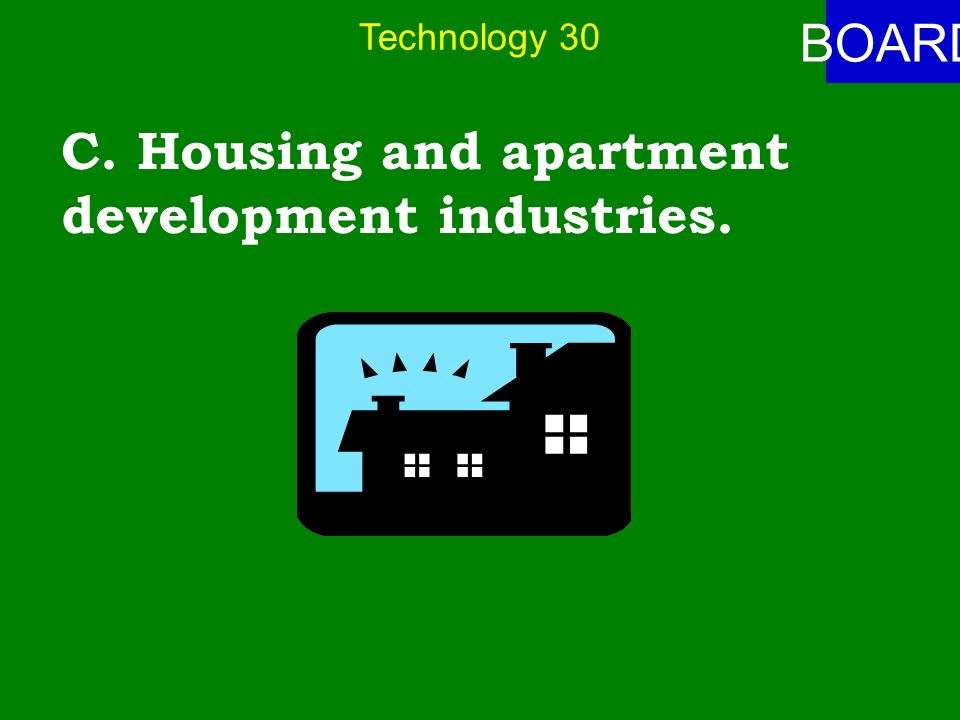 Technology 30 ANSWER Which industries benefited the least from new technologies during the second half of the 20 th century.