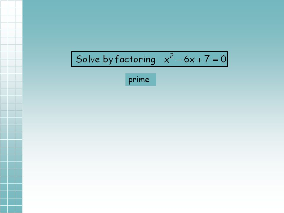 9-3B Completing the Square Adapted from Math 8H Completing the Square JoAnn Evans (to solve quadratic equations) You will need a calculator for today'