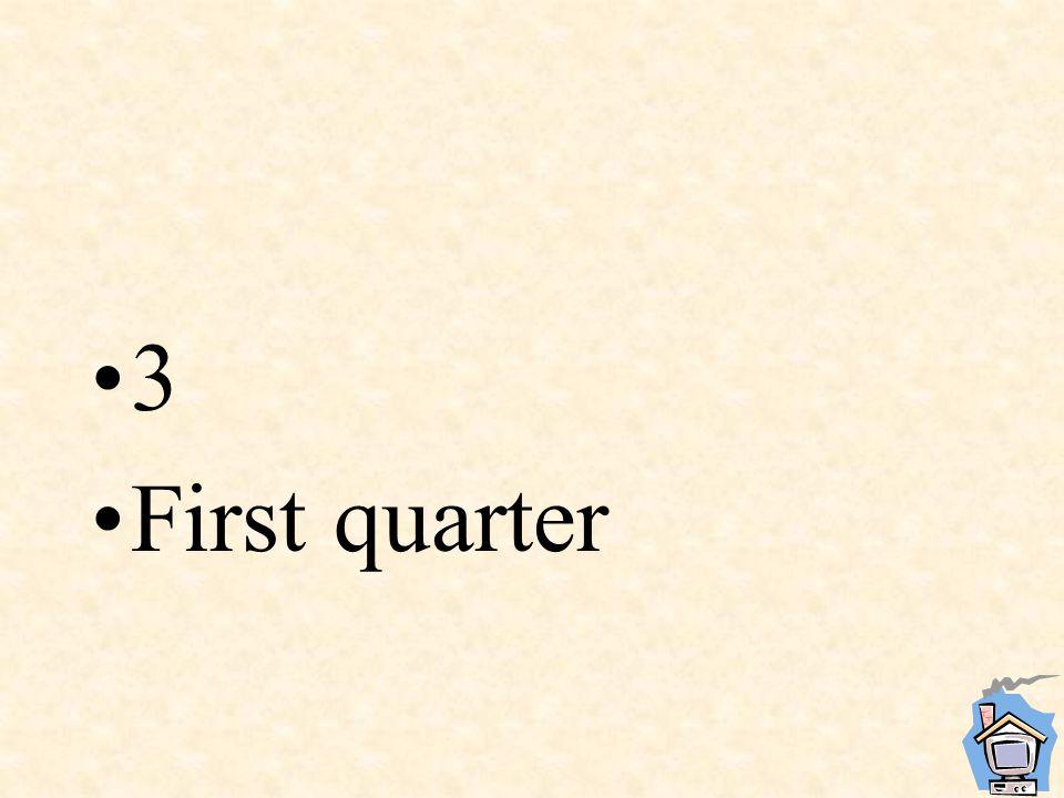 3 First quarter