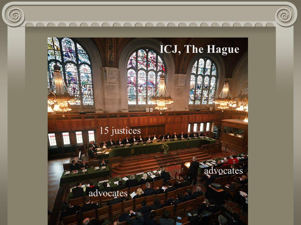 ICJ, The Hague advocates 15 justices