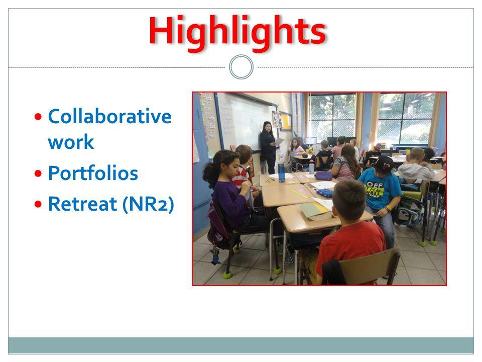 HighlightsHighlights Collaborative work Portfolios Retreat (NR2)