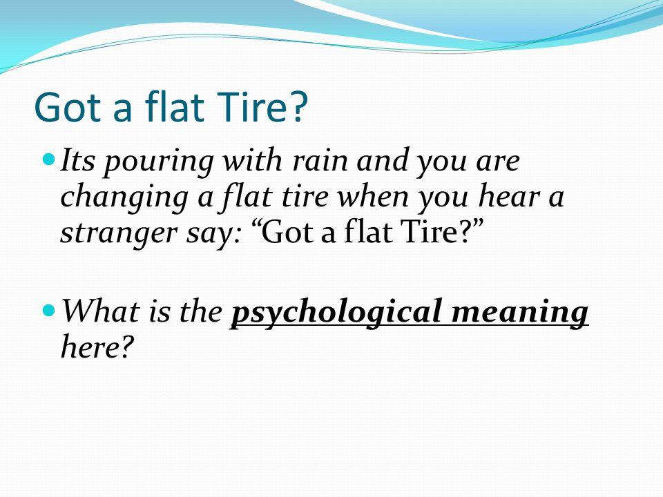 Got a flat Tire.