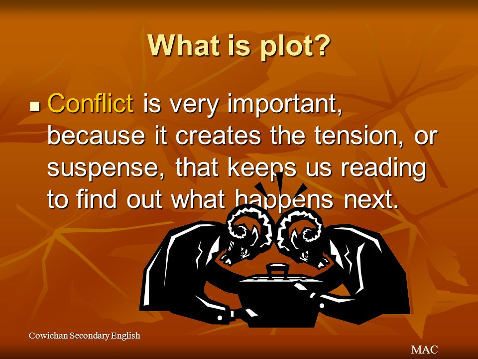 MAC Cowichan Secondary English What is plot.
