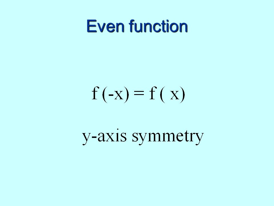 Even function