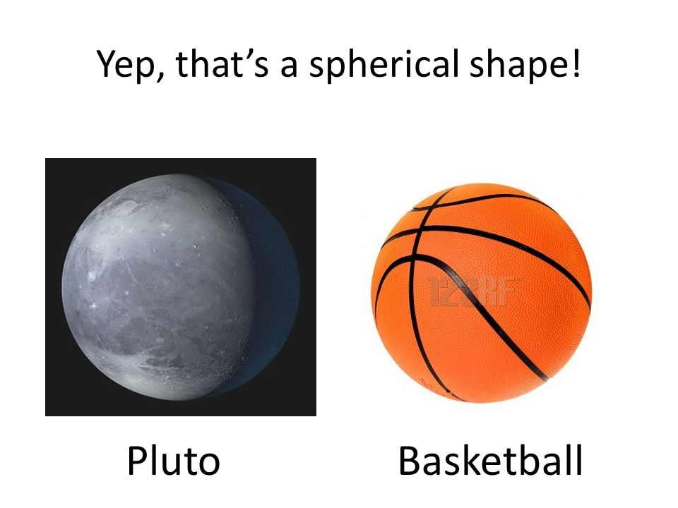 Yep, that's a spherical shape! PlutoBasketball