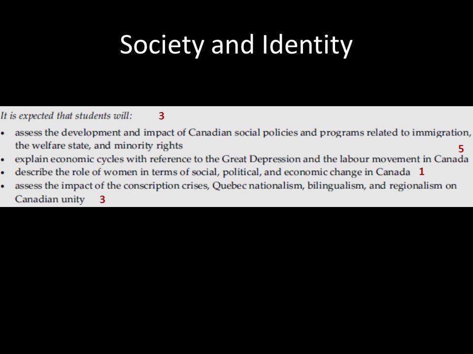 Society and Identity 3 5 1 3