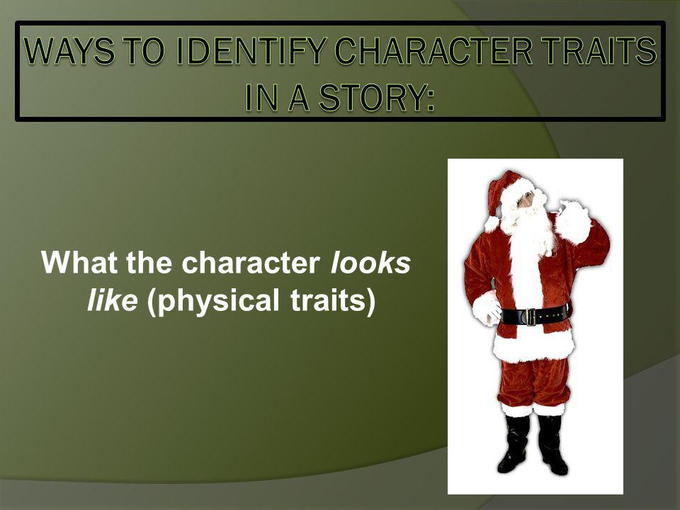 What the character looks like (physical traits)