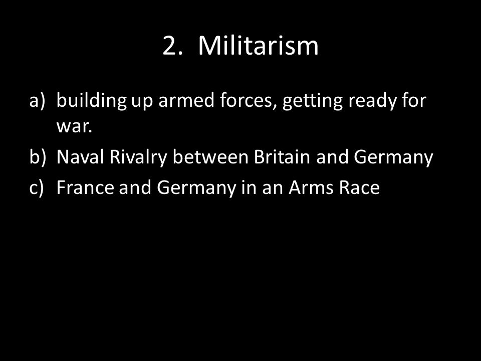 3.Imperialism a)France: wanted lost territory—Alsace/Lorraine), parts of Africa (Morocco).