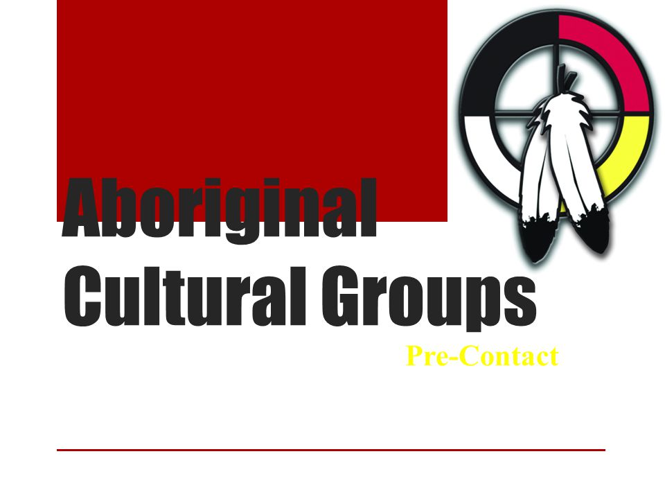 Aboriginal Cultural Groups Pre-Contact