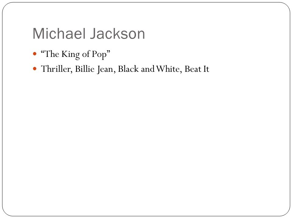 Michael Jackson The King of Pop Thriller, Billie Jean, Black and White, Beat It