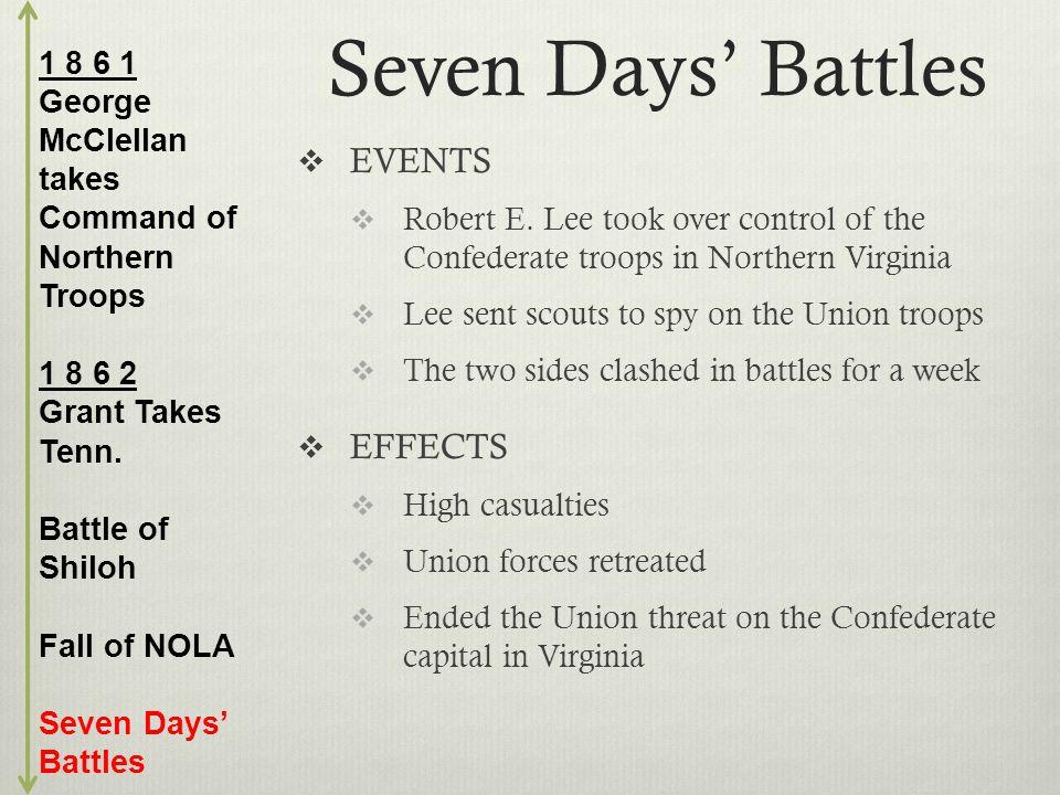 Seven Days' Battles  EVENTS  Robert E.