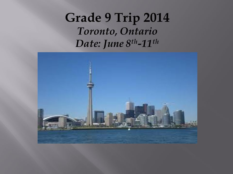  Early morning flight  Arrive Toronto and check in at Sheraton Centre  Head to Rogers Center.