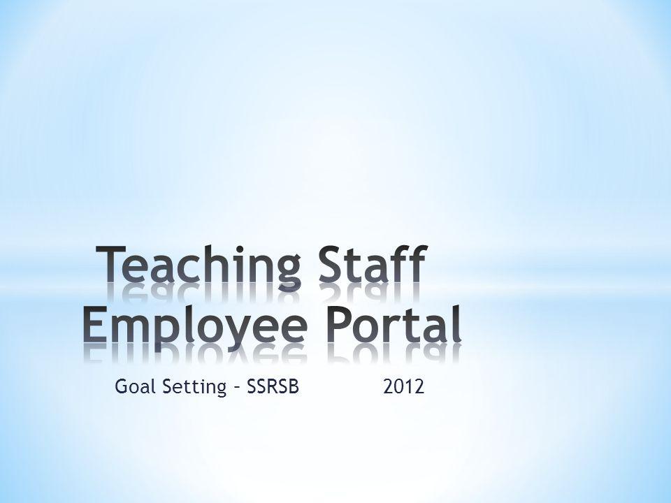 Goal Setting – SSRSB 2012