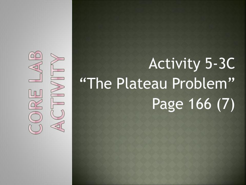 """Activity 5-3C """"The Plateau Problem"""" Page 166 (7)"""