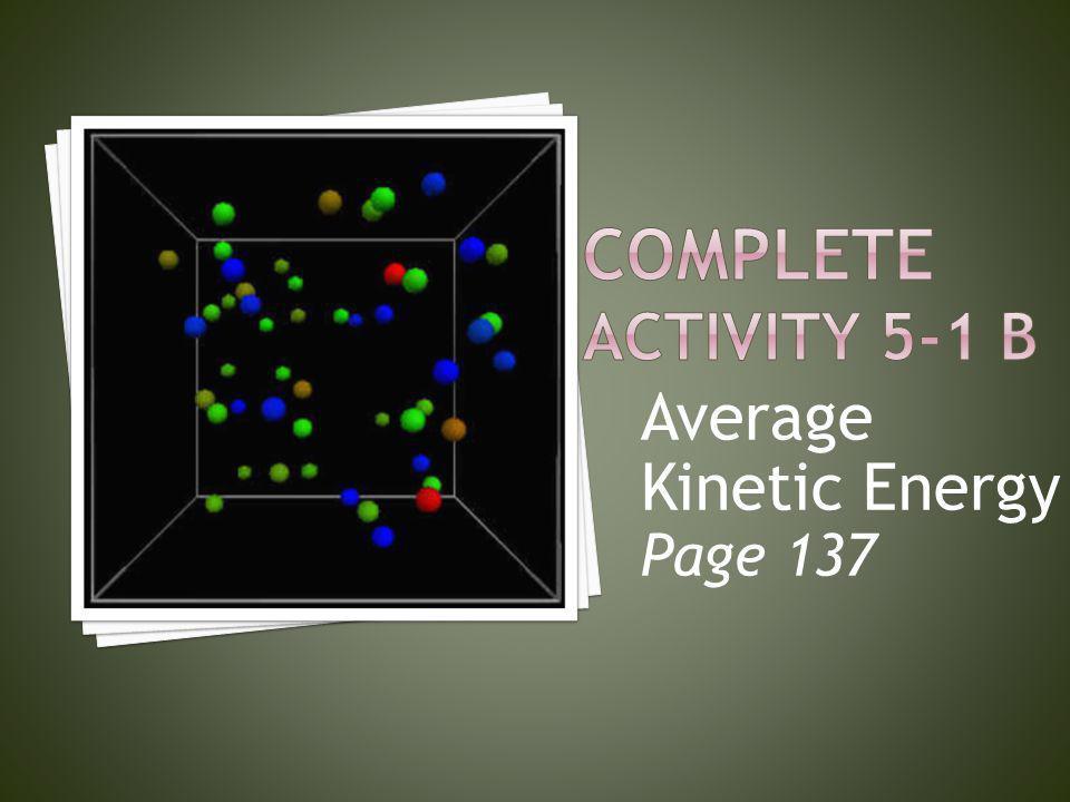 Average Kinetic Energy Page 137