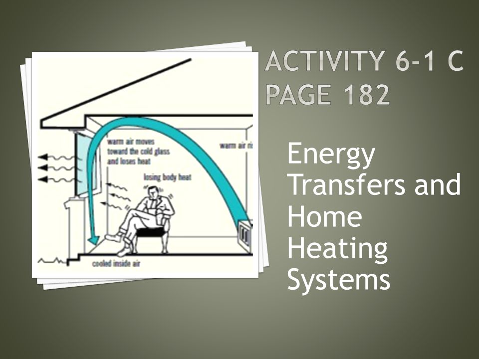 Energy Transfers and Home Heating Systems