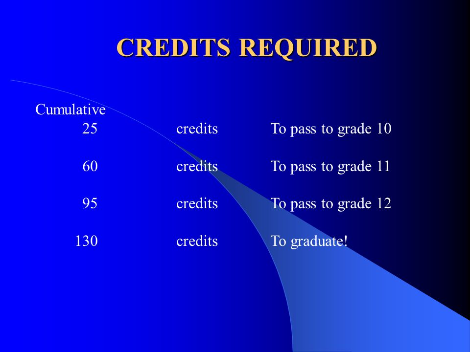 HIGH SCHOOL PROFICIENCY ASSESSMENT In addition to passing the required courses and attaining the 130 credits, all students must successfully complete