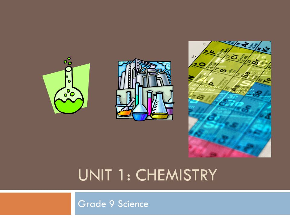 UNIT 1: CHEMISTRY Grade 9 Science