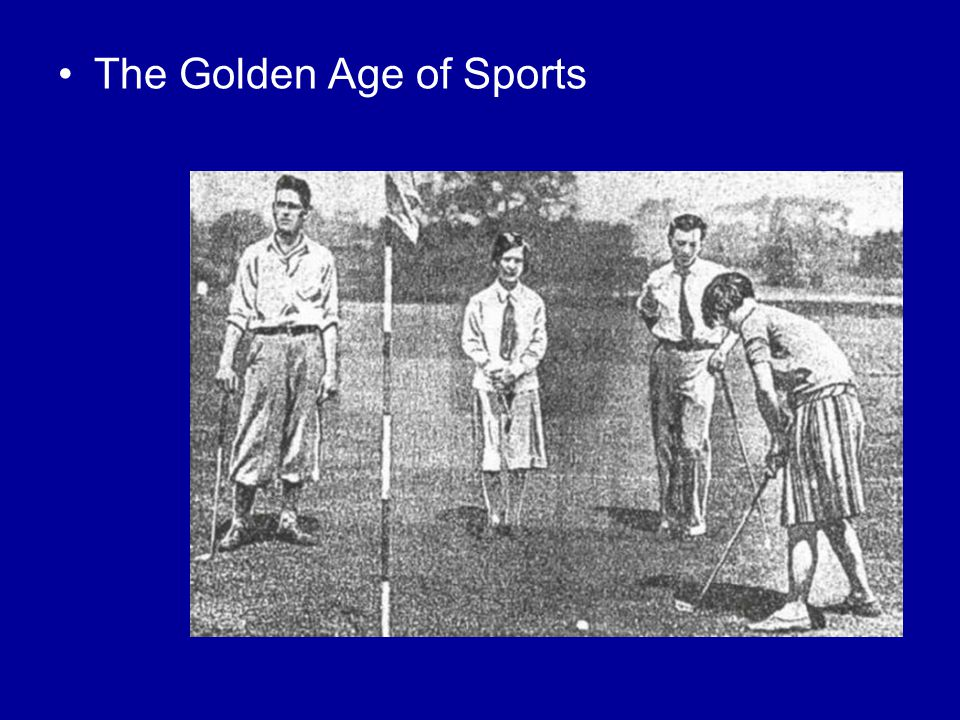 The Golden Age of Sports